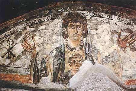 peinture catacombes rome